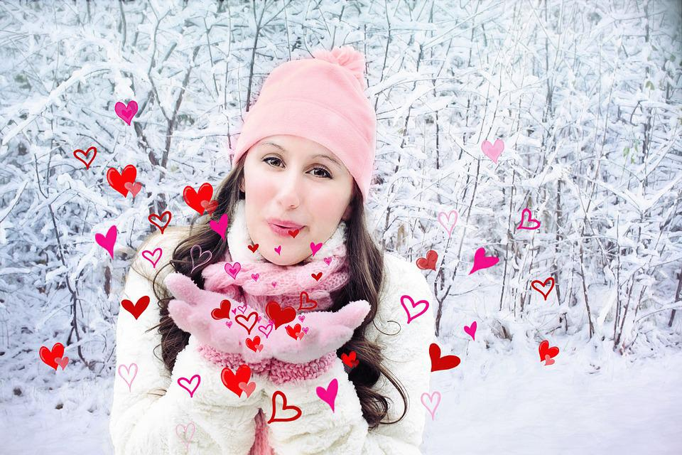 Valentine's Day, Valentine, Hearts, Blowing Kisses