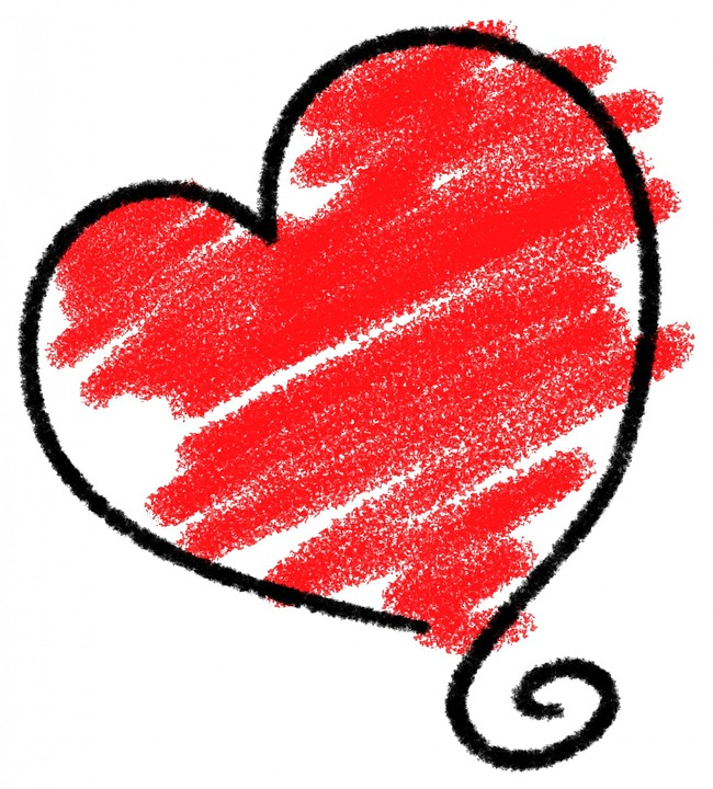 Shapes, Red, Heart, Love, Valentine, Sketch