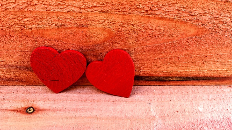 Two, Red, Hearts, Love, Symbol, Romance, Day, Valentine