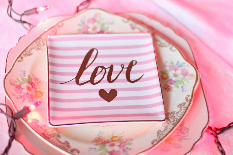 Valentine, Valentines Day, Vintage, Vintage Plate