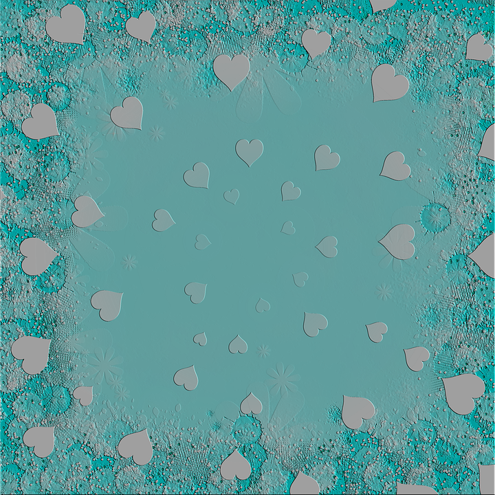 The Background, Blue, Heart, Valentine's Day