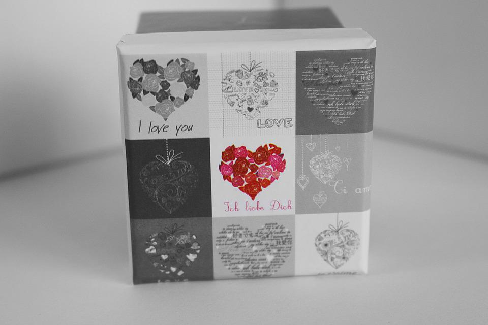 Gift Box, Gift, Valentine's Day, Heart, Love