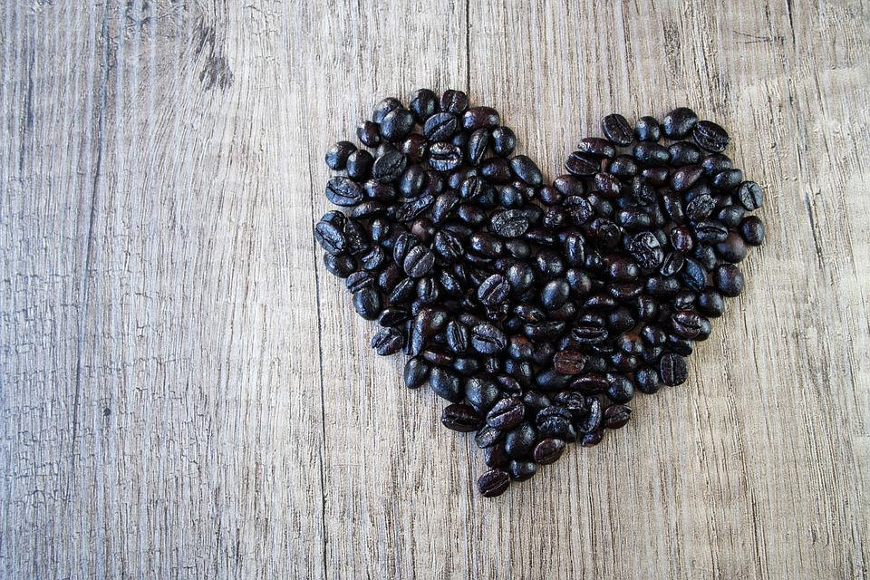 Heart, Love, Romance, Valentine's Day, Wood, Coffee