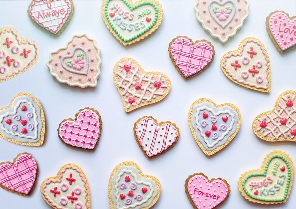 Valentine's Day, Valentine, Cookies, Hearts, Love
