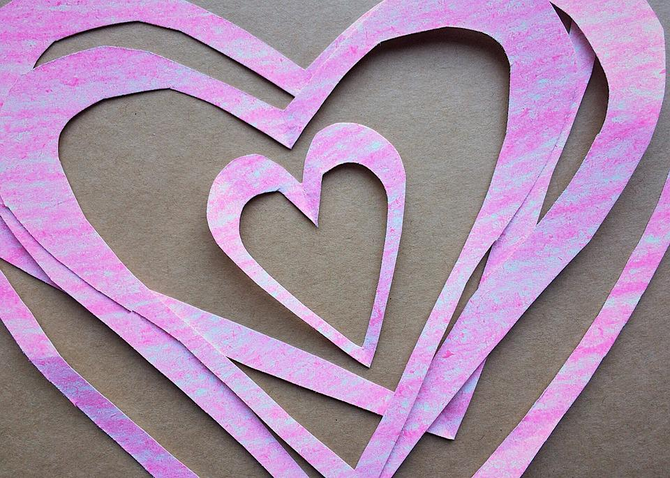 Free Photo Valentines Day Paper Crafts Valentine Hearts Max Pixel