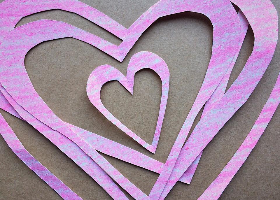 valentines day valentine paper hearts crafts - Valentine Paper Crafts