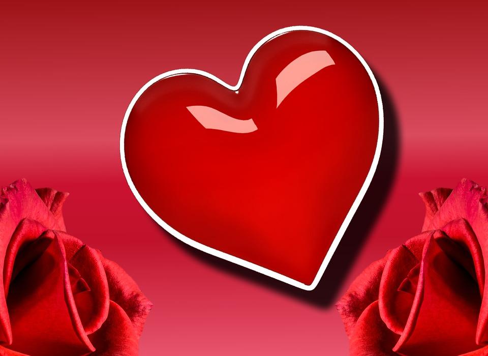 Heart, Red, Background, Valentine's Day, Love, Romance