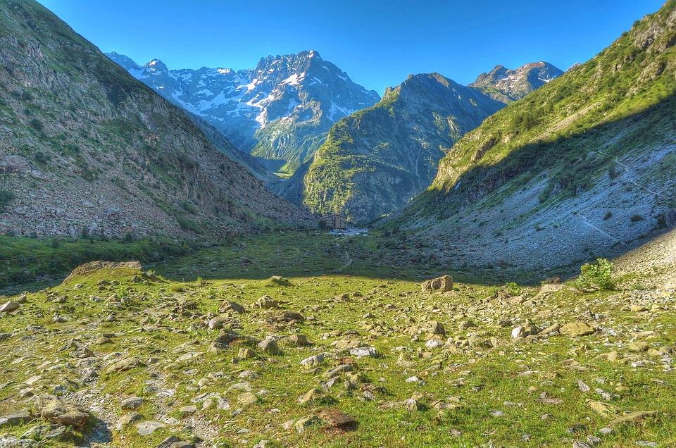 Alps, Valgaudemar, Mountain, Snow, Refuge