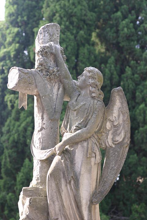 Angel With Cross, Cemetery, Carmen, Valladolid