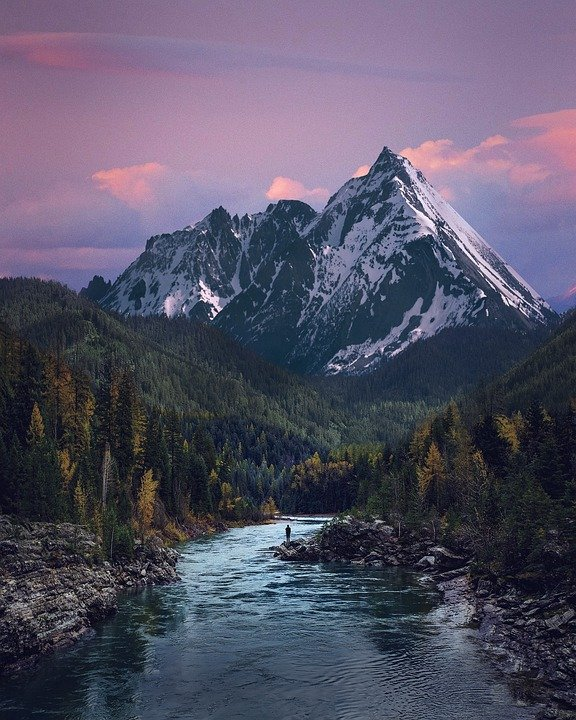 Valley, River, Mountain, Landscape, Nature, Water, Rock