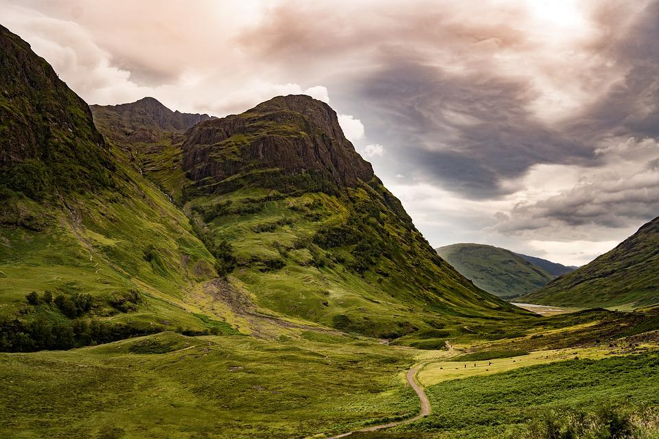 Glencoe, Scotland, Mountain, Nature, Valley, Glen