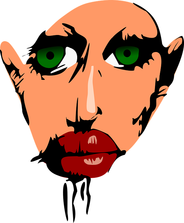 Dracula, Vampire, Monster, Lips, Face, Woman, Female