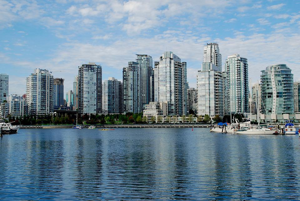 Vancouver, British Columbia, Skyscrapers, Mirroring