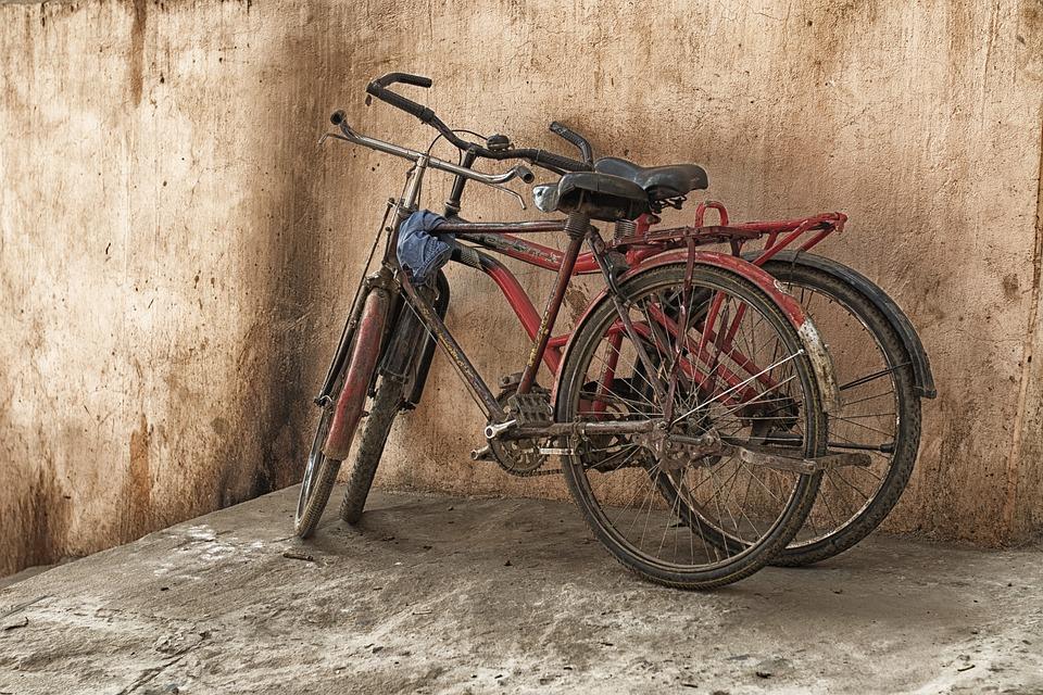 Bicycle, Grunge, Old, Varanasi, Vintage, Travel, City
