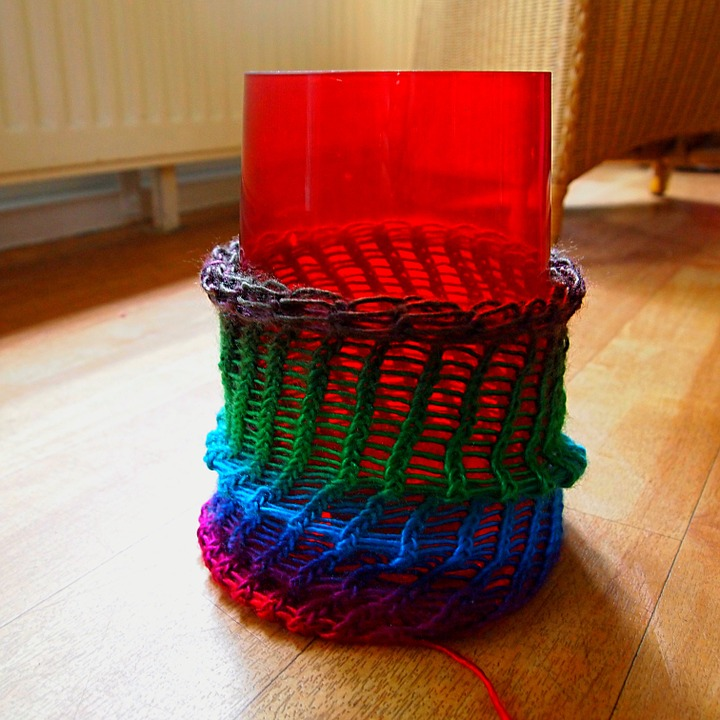 Free Photo Vase Crafts Cover Knitted Fabric Make Max Pixel