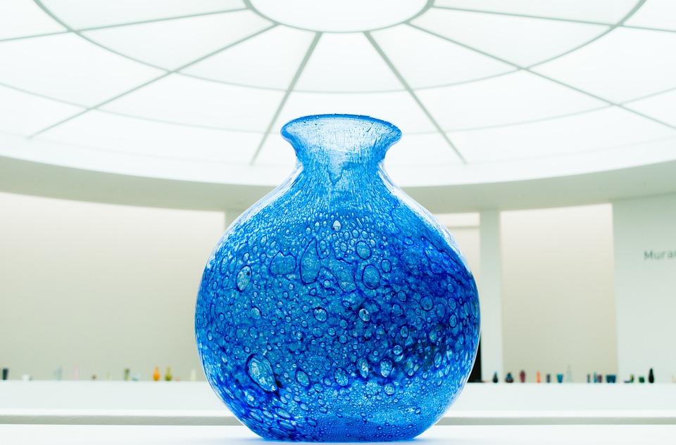 Glass, Crock, Vase, Crafts, Murano, Handmade