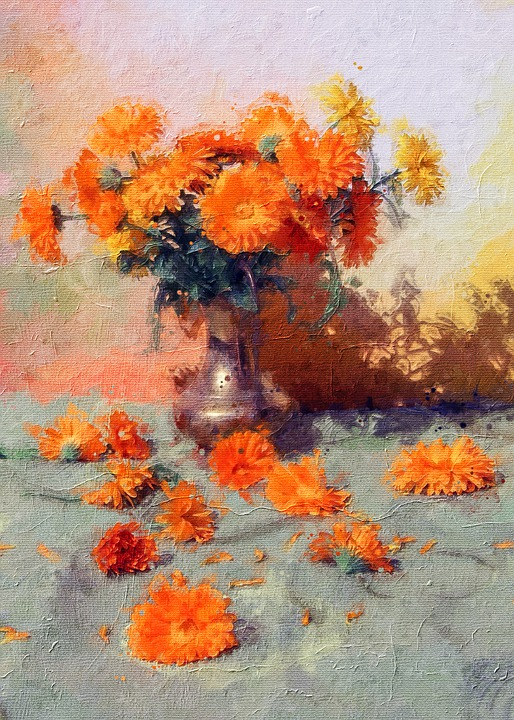 Bouquet, Flower Vase, Flowers, Colorful, Vase, Orange