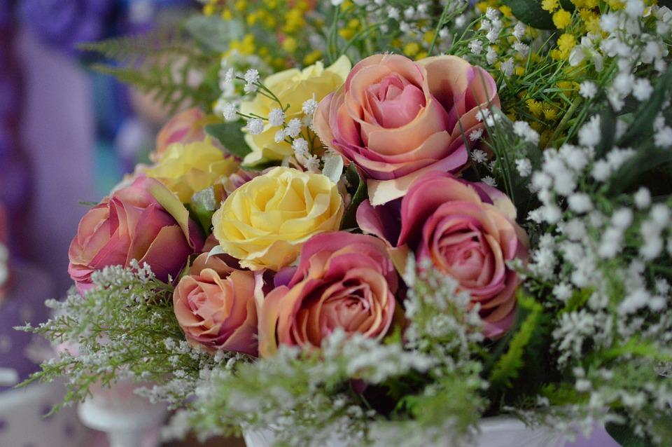 Flowers, Arrangement, Flower Arrangement, Vase, Garnish