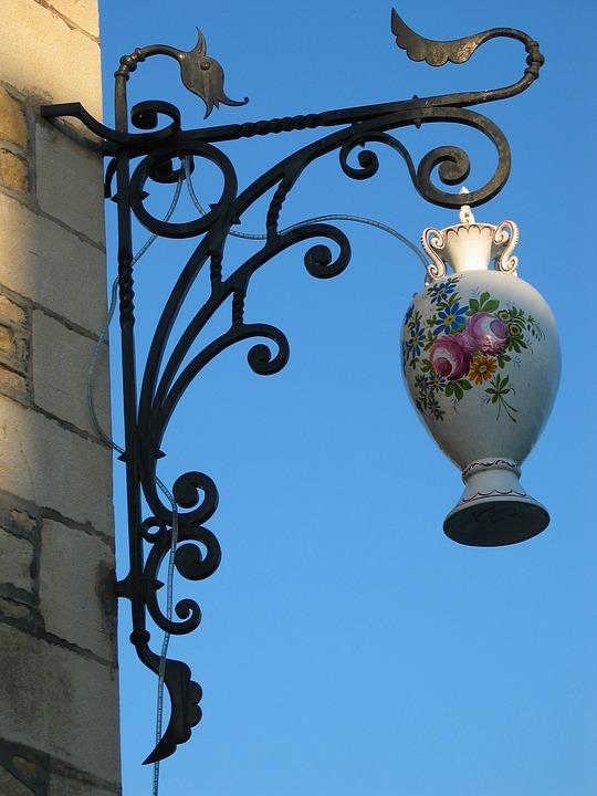 Free Photo Vase Shield Wrought Iron Flower Jug Bouquet Max Pixel