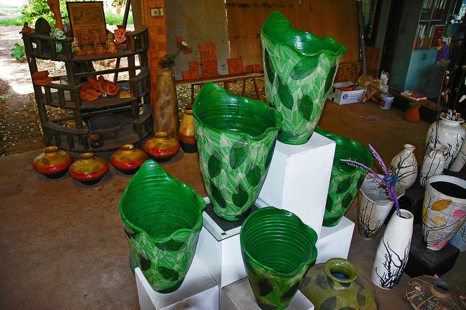 Vases, Green, Thailand