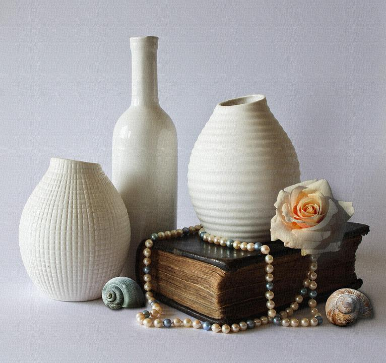 Free Photo Vases White Ceramic Still Life Decoration Max Pixel