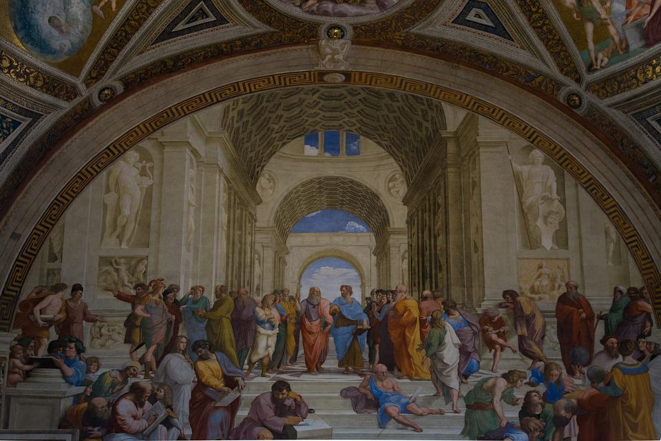 Vatican, Academy, Aristotle, Plato