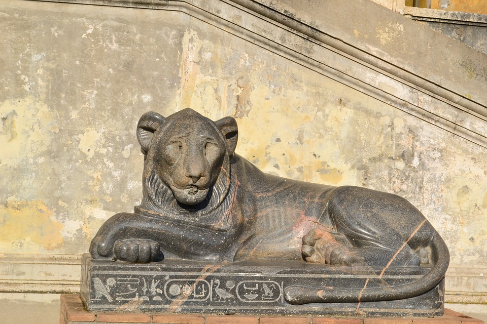 Lion, Rome, Italy, Vatican, Statue, Egyptian Statue