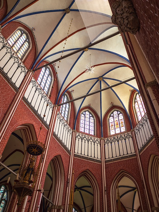 Church, Brick Gothic, Vaulted Ceilings, Architecture