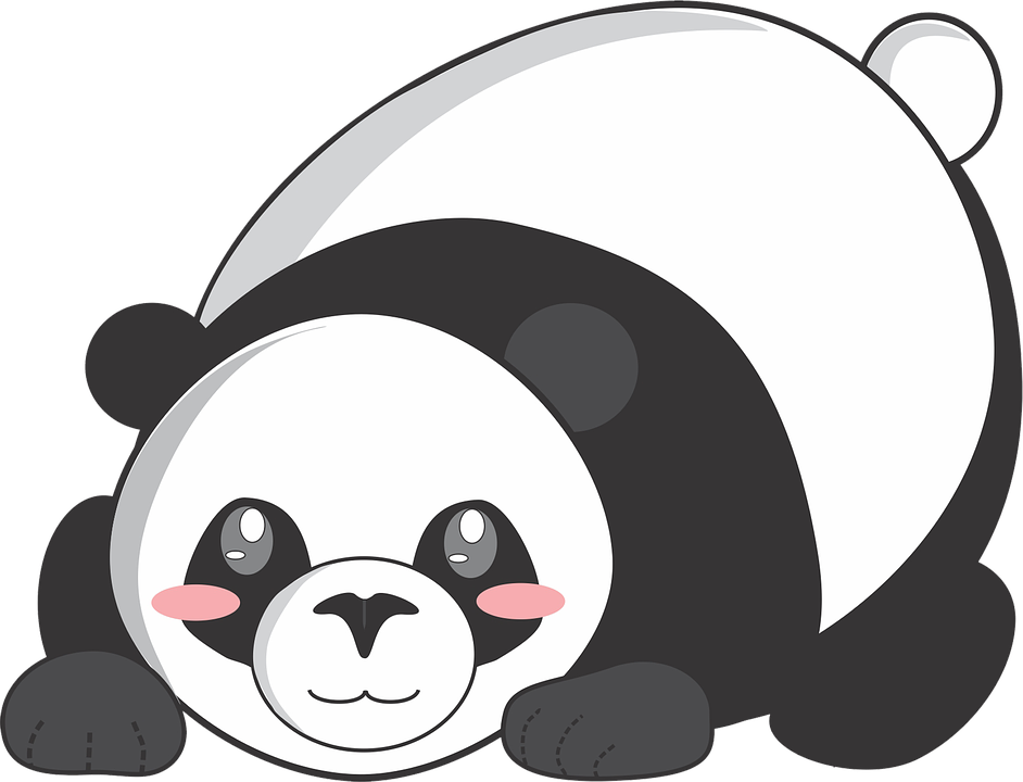 Panda, Cartoon, Cute, Animal, Comics, Vector