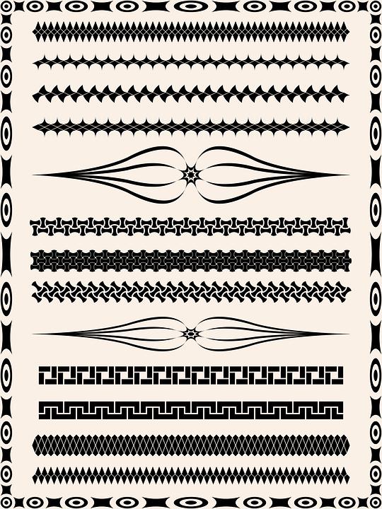 Page, Vector, Greeting, Divider, Line, Design, Set