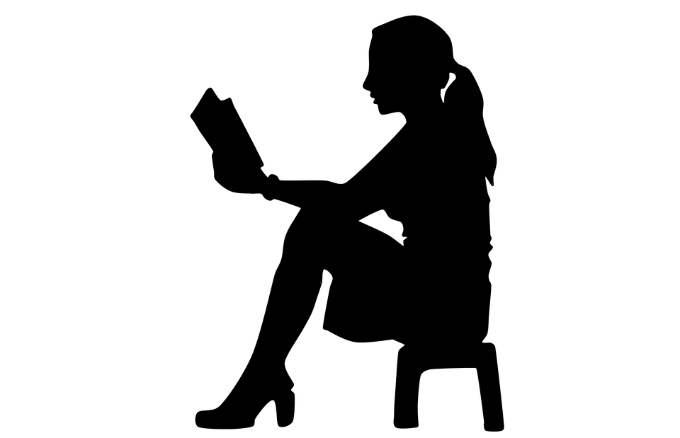 Woman With Bible, Vector, Shadow Of Woman, Student