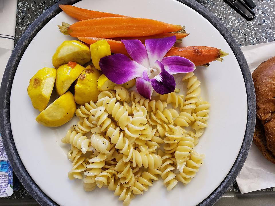 Vegan, Lunch, Pasta, Fresh, Vegetables, Carrots