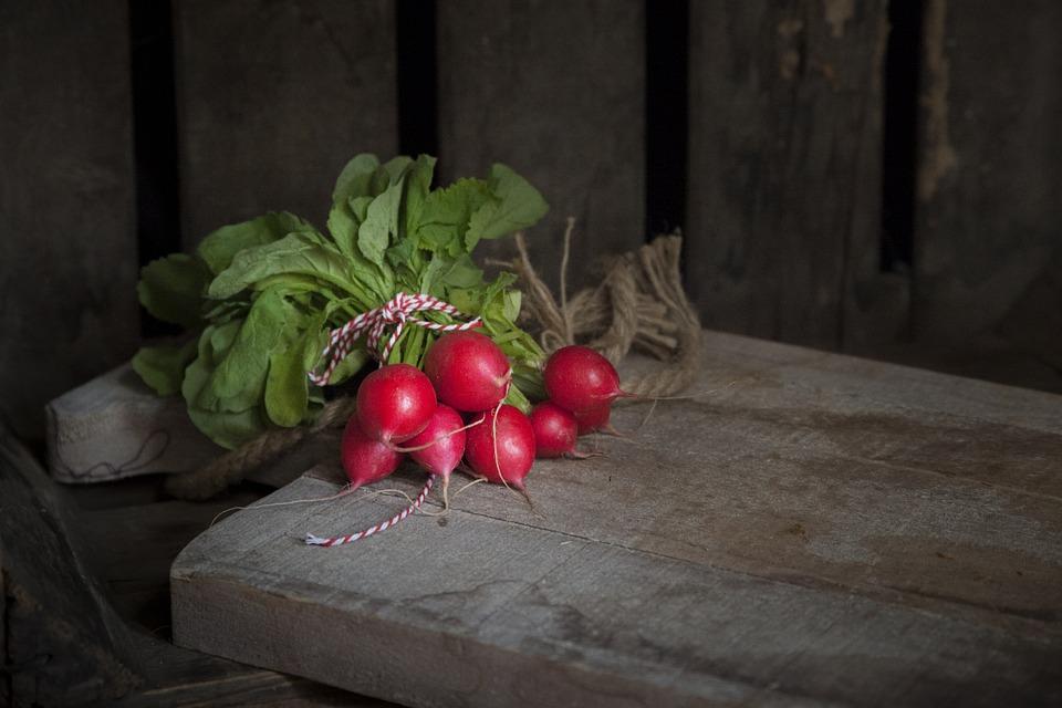 Summer, Radishes, Red, Vegetable, Fruit, Food, Healthy