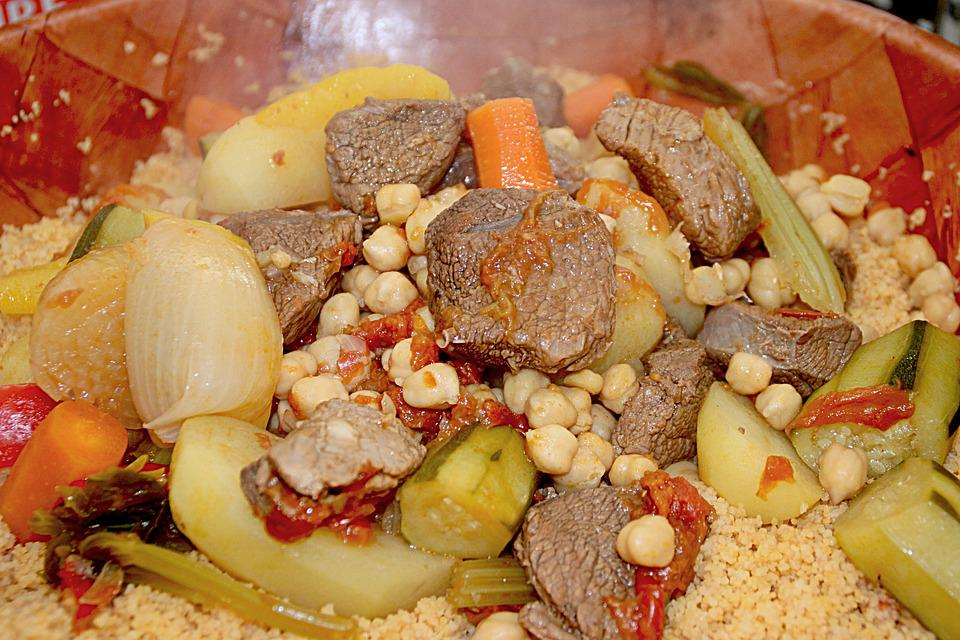 Couscous, Vegetable, Meat, Poultry, Power, Turnips