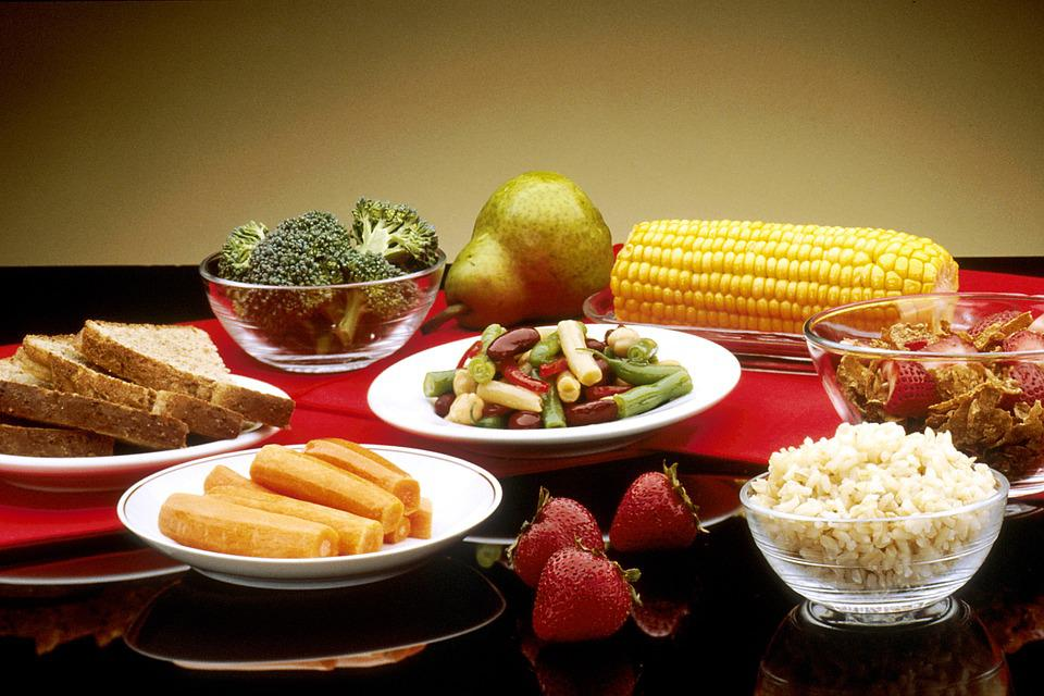 Healthy Food, Fruit, Vegetables, Bread, Cereals