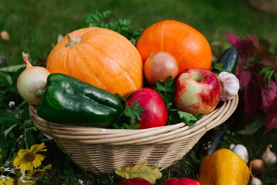 Vegetables, Basket, Autumn, Nutrition, Harvest, Food