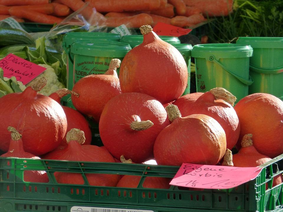 Market, Pumpkin, Harvest, Vegetables, Food, Frisch