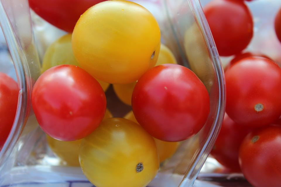 Tomatoes, Food, Vegetables, Red, Yellow, Delicious