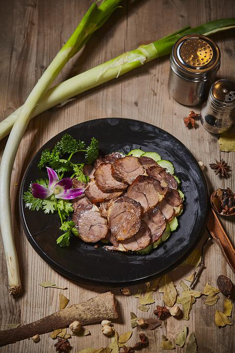 Pork, Braised Pork, Gourmet, Dishes, Vegetables