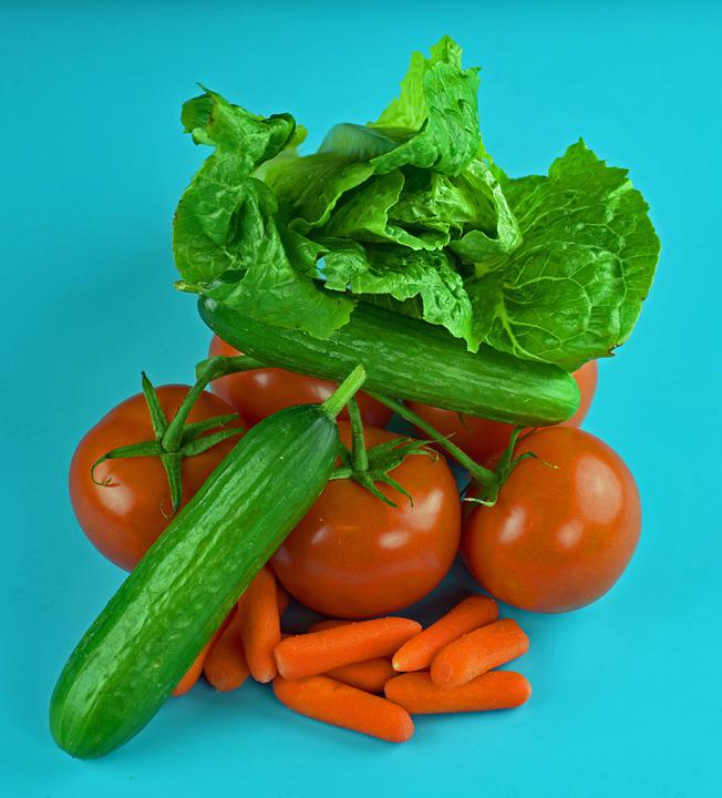 Vegetables, Carrots, Tomatoes, Lettuce, Cucumbers