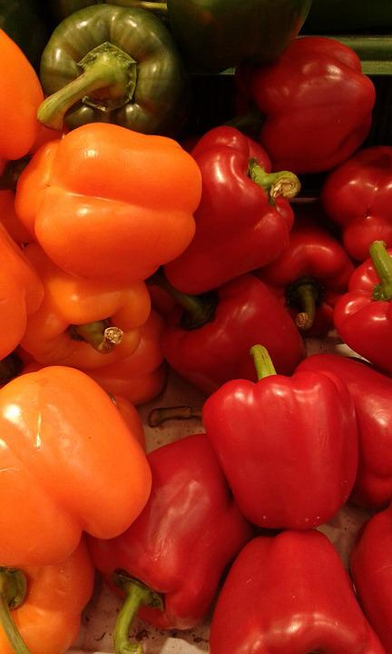 Sweet Peppers, Red, Peppers, Vegetables