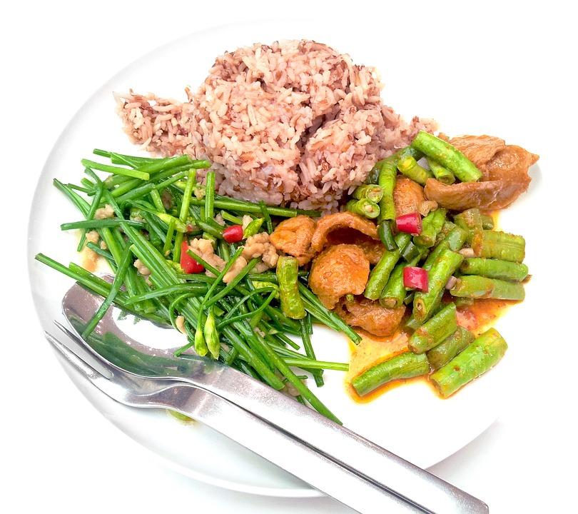 Vegetarian, Food, Diet, Healthy, Brown Rice, Vegetables