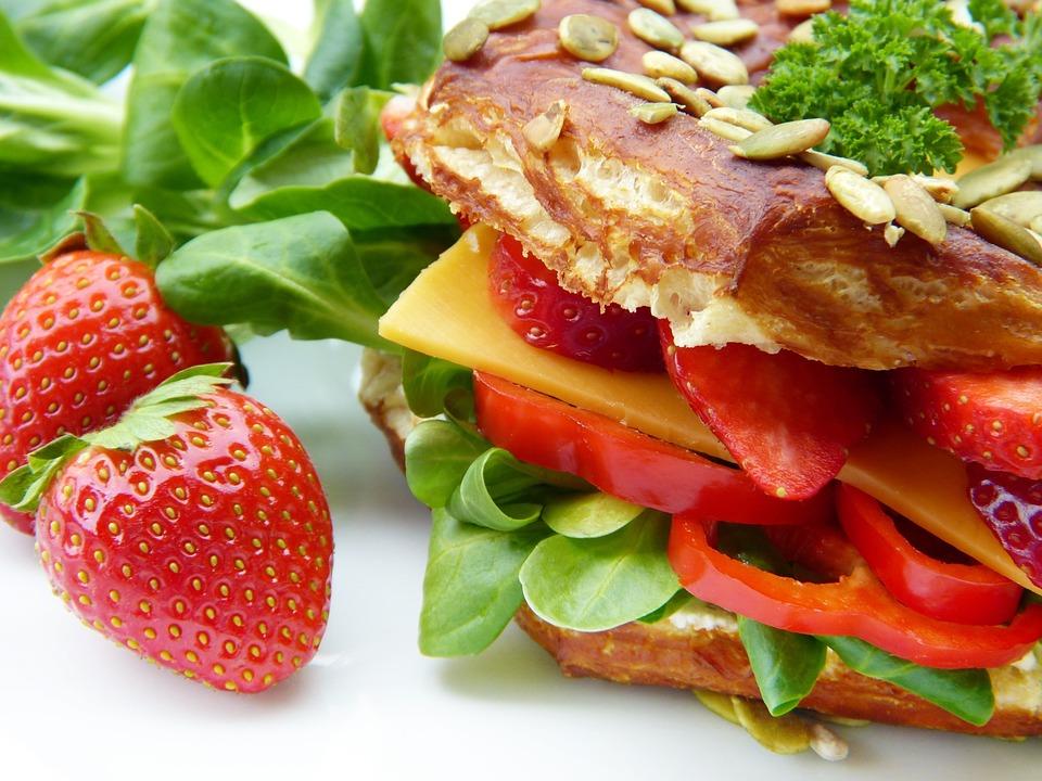 Sandwich, Salad, Vegetarian, Cheese, Occupied Bread