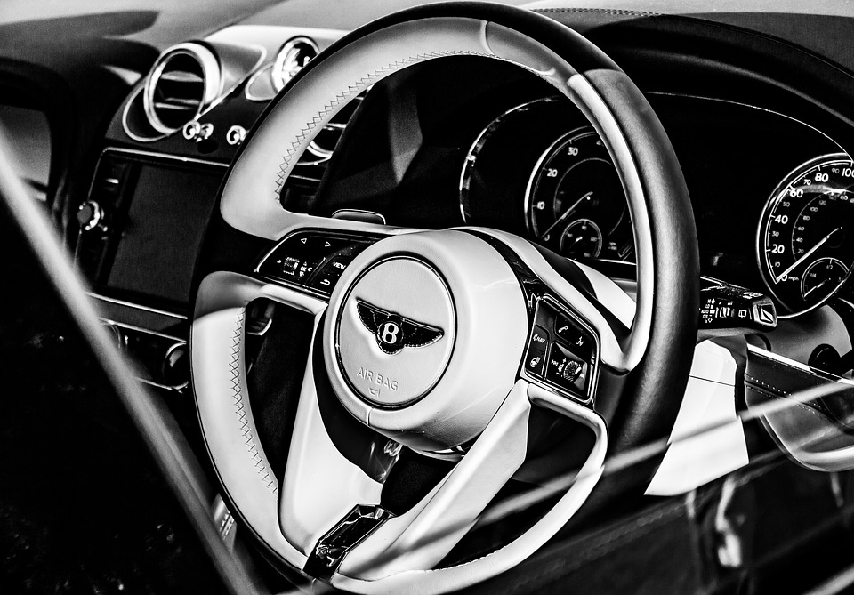 Bentley, Car, Steering Wheel, Bentley Bentayga, Vehicle