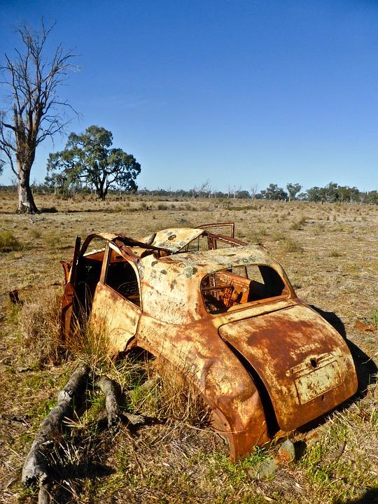 Rusty, Ruin, Abandoned, Vehicle, Car, Decay, Metal