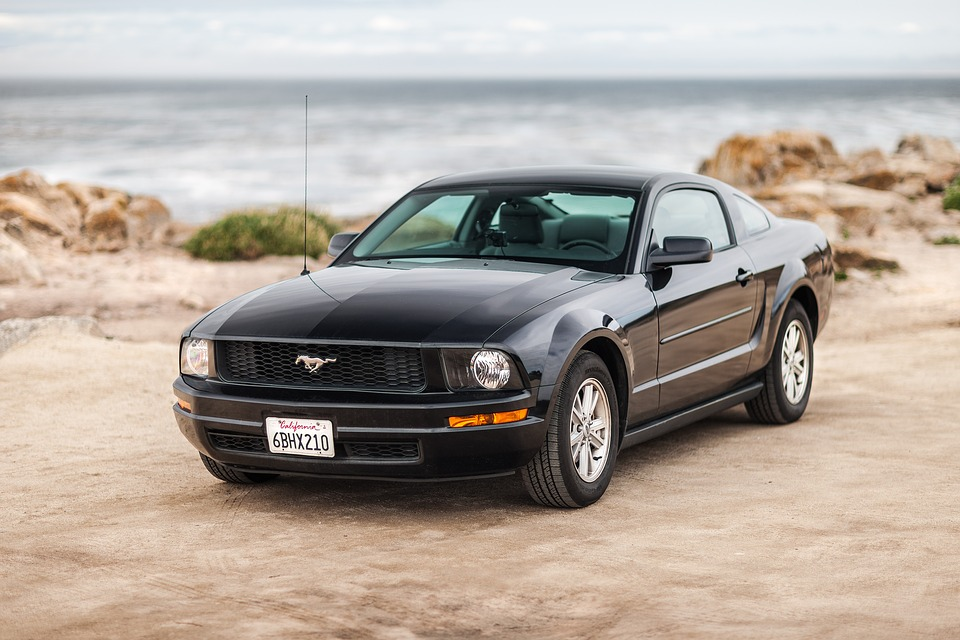 Car, Ford, Mustang, Black, Vehicle, Automobile, Auto