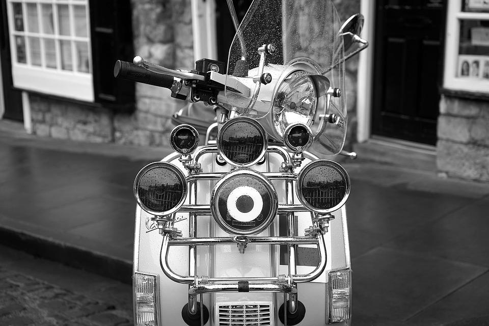 Scooter, 1960s, Retro, Vehicle, Italian, Transport, Old