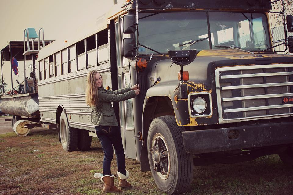 Old Bus, Old Car, Vehicle, Stainless, Leave, Broken