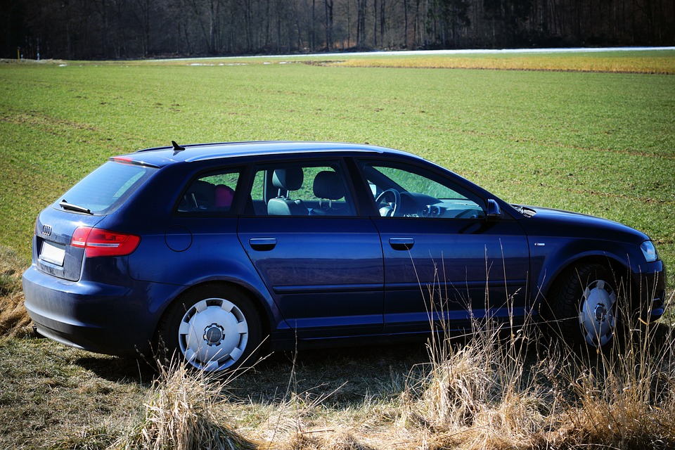 Auto, Audi, A3, Blue, Nature, Vehicle, Transport System