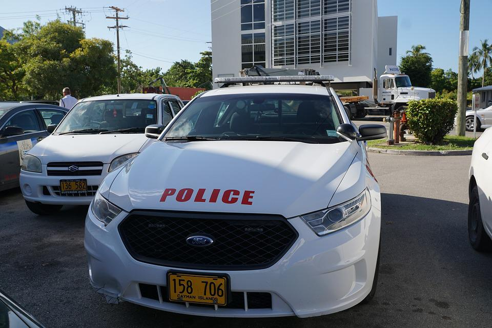 Police, Auto, Cayman Iceland, Vehicle, Drive, White